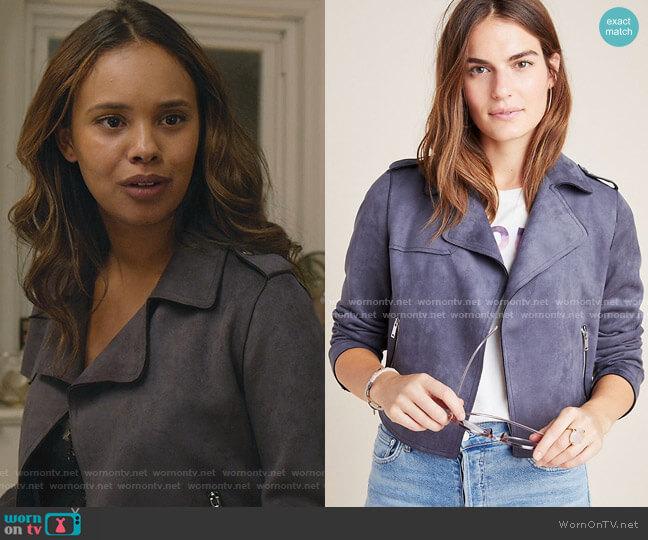 Expressway Moto Jacket by Anthropologie worn by Jessica Davis (Alisha Boe) on 13 Reasons Why