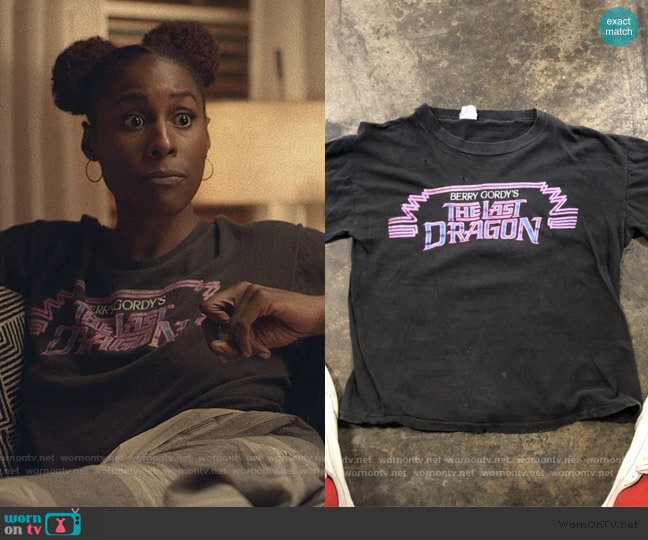 Berry Gordan The Last Dragon Tee worn by Issa Dee (Issa Rae) on Insecure