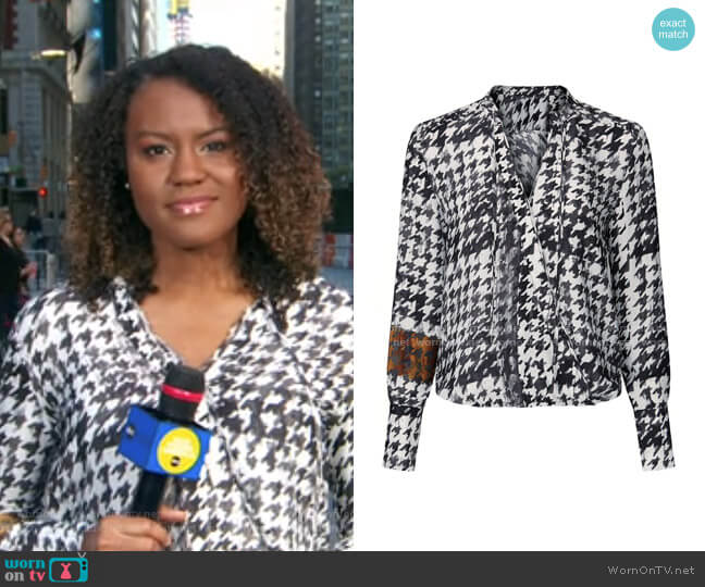 Mayes Top by Brochu Walker worn by Janai Norman  on Good Morning America