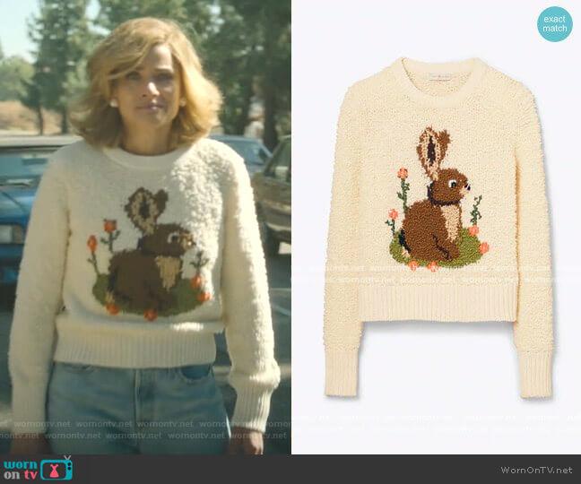 Bunny Intarsia Sweater by Tory Burch worn by Betty Broderick (Amanda Peet) on Dirty John