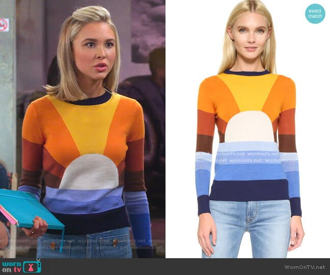 California Dreamin Sweater by Stoned Immaculate worn by Katie Cooper (Isabel May) on Alexa & Katie