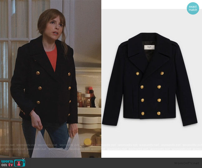 Short Caban in Wool by Celine worn by Darby (Anna Kendrick) on Love Life