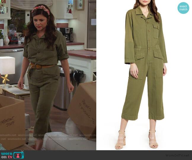 The Richland Cotton & Linen Jumpsuit by Current/Elliott worn by Lori Mendoza (Tiffani Thiessen) on Alexa & Katie