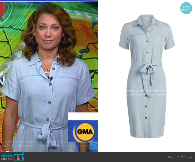 Dagmar Dress - Eva Mendes Collection by New York & Company worn by Ginger Zee  on Good Morning America
