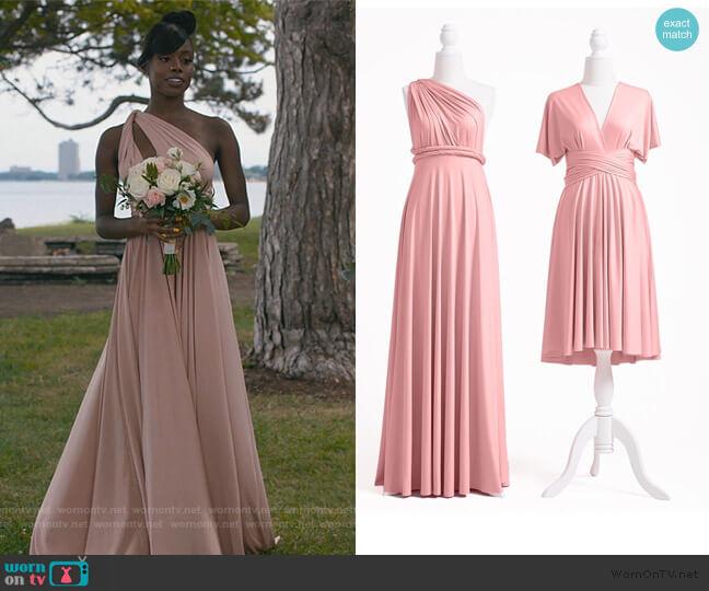 Dusty Rose Multiway Infinity Dress by Infinity Dress worn by Kiesha Williams (Birgundi Baker) on The Chi