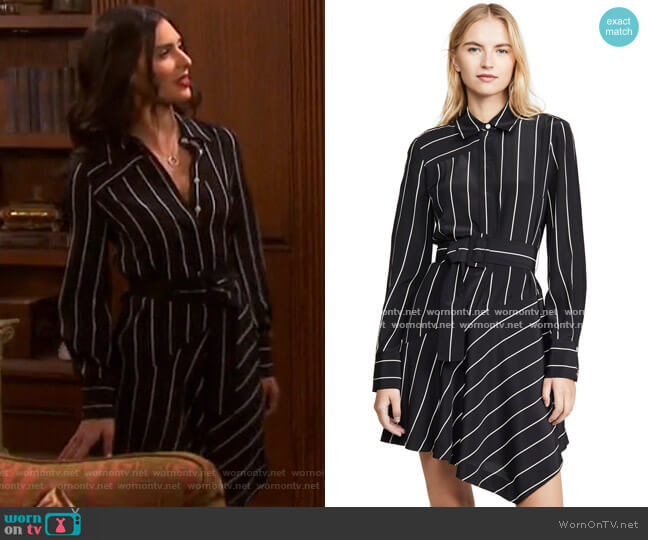 Belted Asymmetric Shirtdress by Derek Lam 10 Crosby worn by Gabi Hernandez (Camila Banus) on Days of our Lives