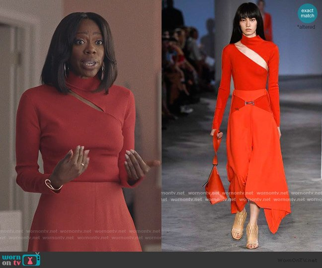 2019 Sprint Collection by Dion Lee worn by Molly Carter (Yvonne Orji) on Insecure