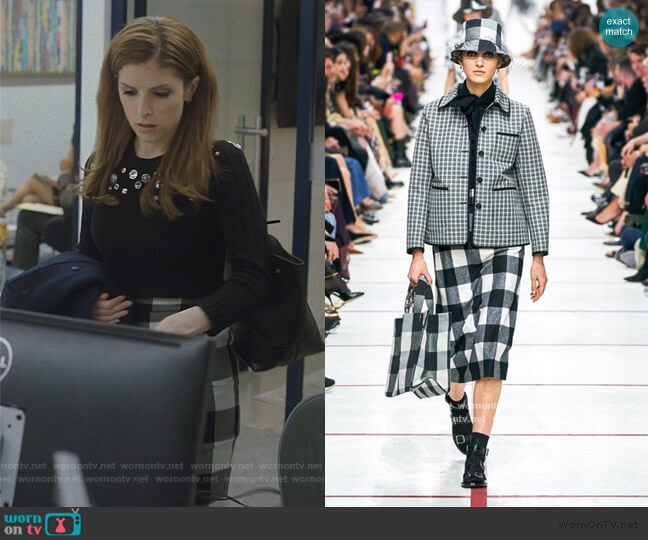 Plaid Skirt Fall 2020 Collection by Dior worn by Darby (Anna Kendrick) on Love Life