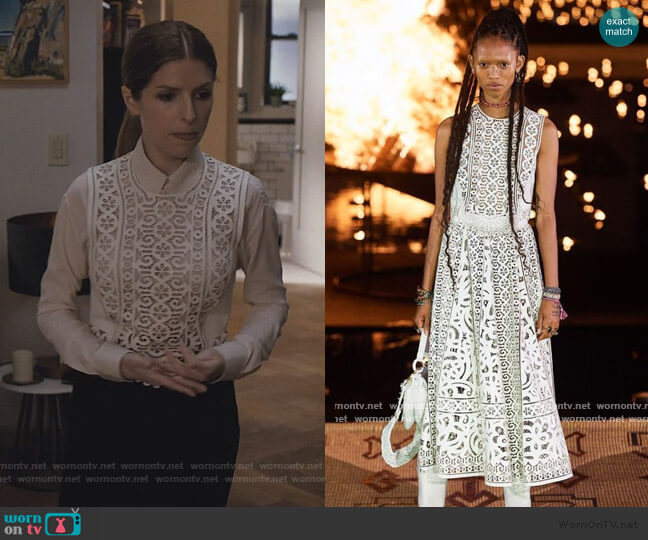2020 Resort laser cut Top by Dior worn by Darby (Anna Kendrick) on Love Life