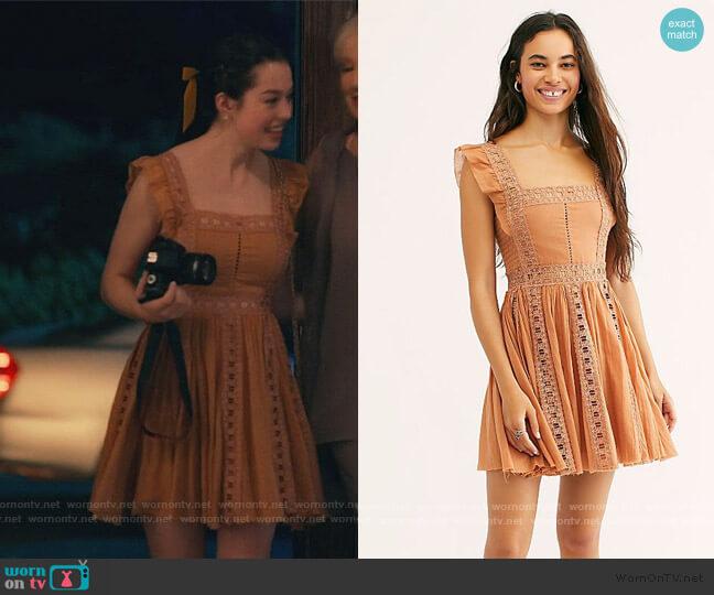 One Verona Dress by Free People worn by Annie Sullivan (Anneliese Judge) on Sweet Magnolias
