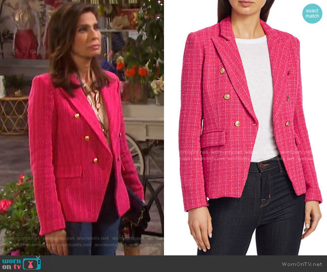 Alexa Tweed Double-Breasted Blazer by Generation Love  worn by Hope Williams (Kristian Alfonso) on Days of our Lives