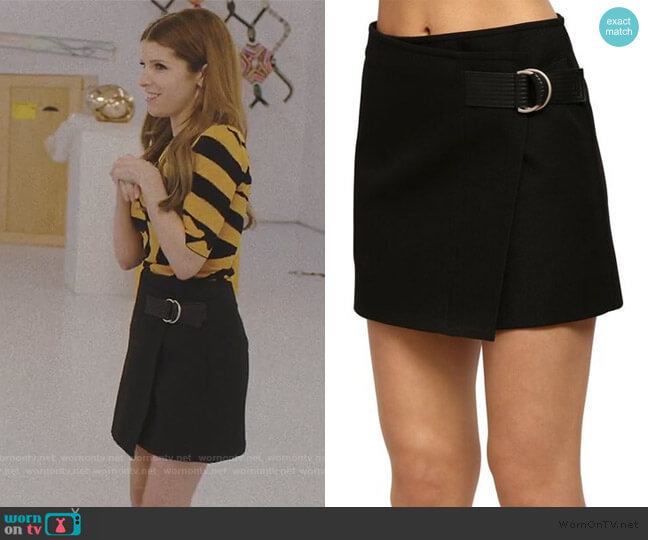 Wrap Style Techno Twill Mink Skirt by Givenchy worn by Darby (Anna Kendrick) on Love Life