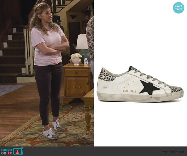 Leopard Superstar Sneakers by Golden Goose worn by Stephanie Tanner (Jodie Sweetin) on Fuller House