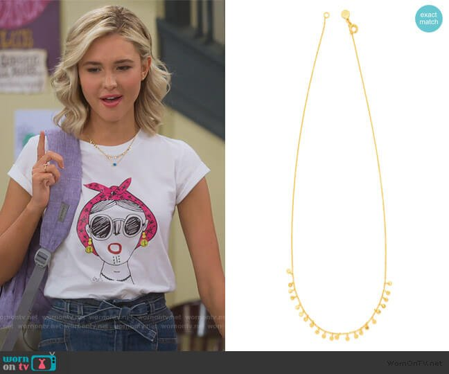 Power Gemstone Charm Necklace for Healing by Gorjana worn by Katie Cooper (Isabel May) on Alexa & Katie