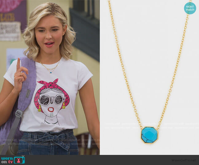 Chloe Mini Strand Necklace by Gorjana worn by Katie Cooper (Isabel May) on Alexa & Katie