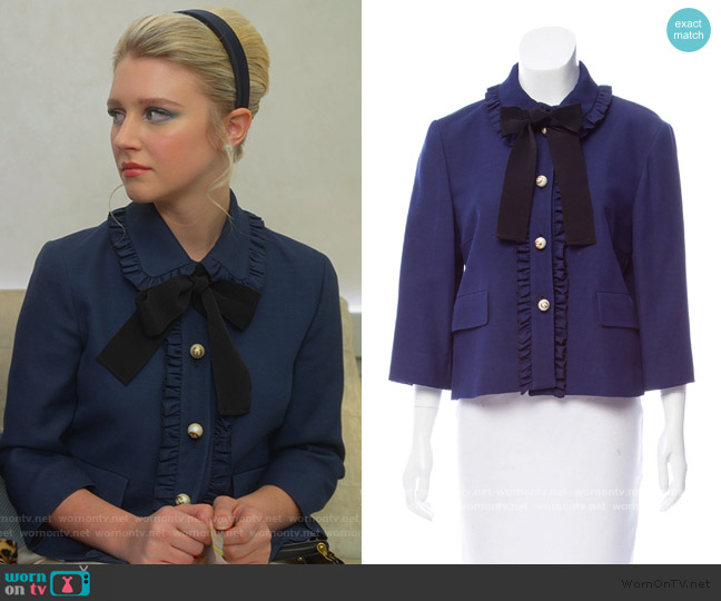 Ruffled Trim Jacket by Gucci worn by Alice (Julia Schlaepfer) on The Politician