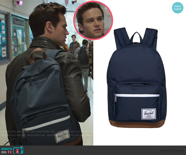 Pop Quiz Backpack by Herschel Supply Co. worn by Brandon Flynn on 13 Reasons Why