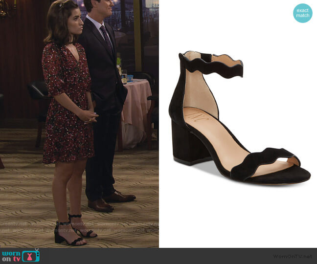 Hadwin Scallop Two-Piece Sandals by INC International Concepts worn by Ramona Gibbler (Soni Nicole Bringas) on Fuller House