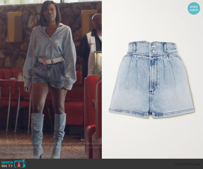 Laconi Denim Shorts by Iro worn by Molly Carter (Yvonne Orji) on Insecure