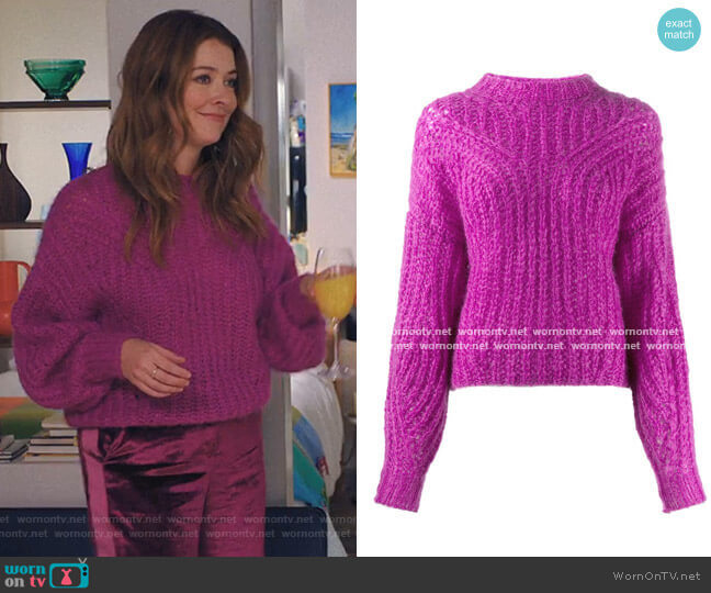 Inko sweater by Isabel Marant worn by Nadia Quinn on Love Life