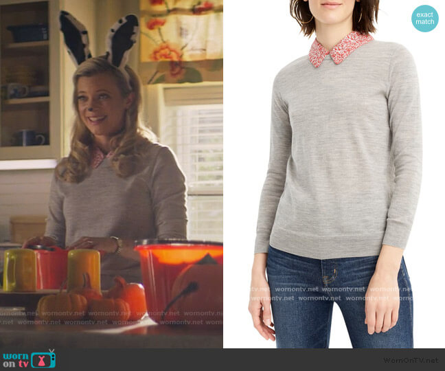 Tippi Liberty Print Collar Sweater by J. Crew worn by Barbara Whitmore (Amy Smart) on Stargirl
