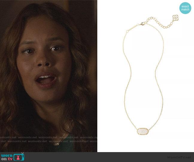 Elisa Drusy Necklace by Kendra Scott worn by Jessica Davis (Alisha Boe) on 13 Reasons Why