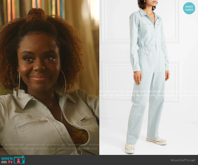 Danny stretch-Cotton Jumpsuit by L.F. Markey worn by Josie McCoy (Ashleigh Murray) on Katy Keene