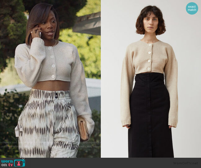 Short Cardigan by Lemaire worn by Molly Carter (Yvonne Orji) on Insecure
