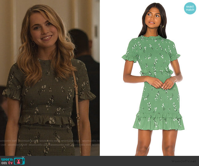 Faye Dress by Likely worn by Chloe Rice (Anne Winters) on 13 Reasons Why