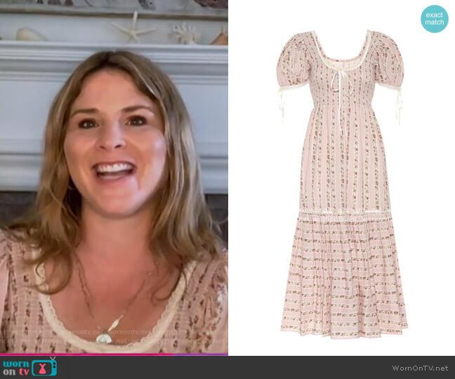 Judith Cotton Dress by LoveShackFancy worn by Jenna Bush Hager  on Today