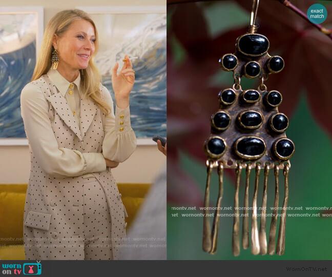 Mojave Earring by Lisa Eisner worn by Georgina Hobart (Gwyneth Paltrow) on The Politician
