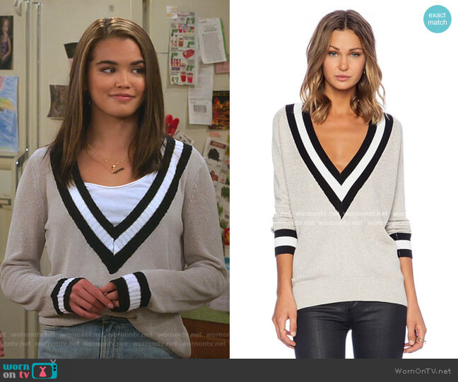 Wilde Heart Varsity Sweater by Lost in Lunar worn by Alexa Mendoza (Paris Berelc) on Alexa & Katie