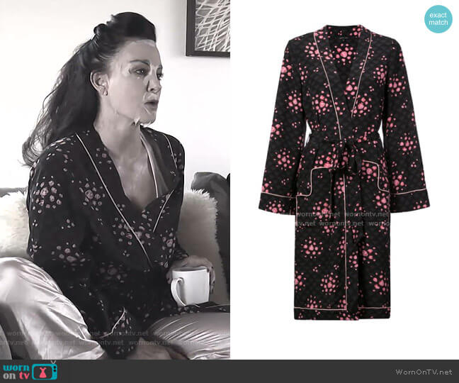 Ophelia Robe by Morgan Lane worn by Kyle Richards  on The Real Housewives of Beverly Hills