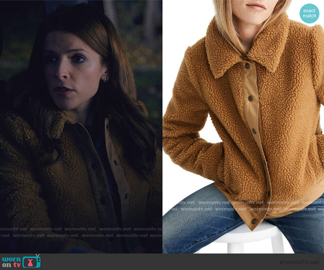 High Pile Fleece Portland Jacket by Madewell worn by Darby (Anna Kendrick) on Love Life