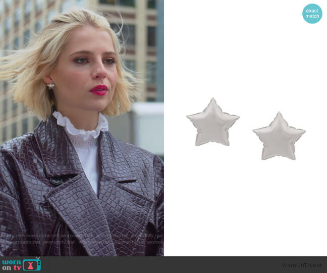 Balloon Star earrings by Marc Jacobs worn by Astrid (Lucy Boynton) on The Politician