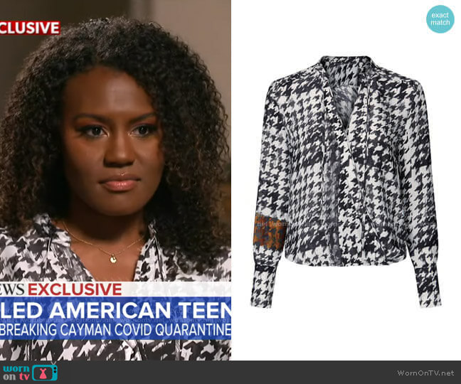 Mayes Top by Brochu Walker worn by Janai Norman  on Good Morning America