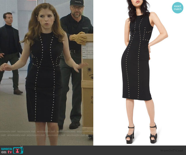 Studded Pebble-Crepe Dress by Michael Kors worn by Darby (Anna Kendrick) on Love Life