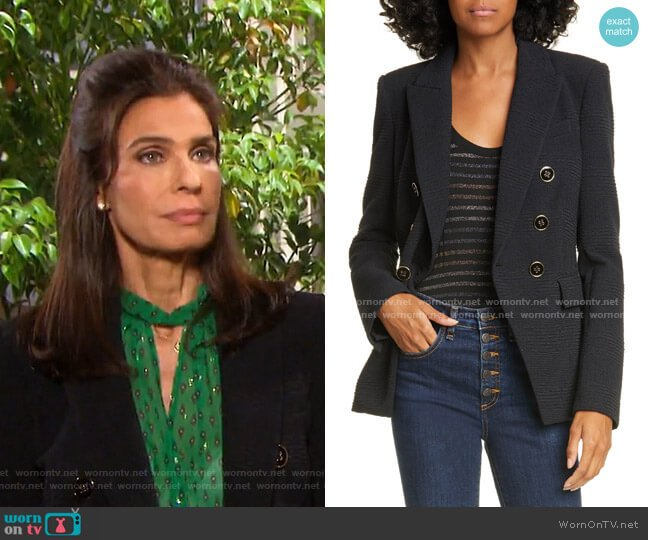 Miller Textured Dickey Jacket by Veronica Beard worn by Hope Williams (Kristian Alfonso) on Days of our Lives