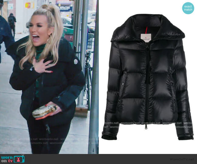 Bandama puffer Jacket by Moncler worn by Tinsley Mortimer  on The Real Housewives of New York City