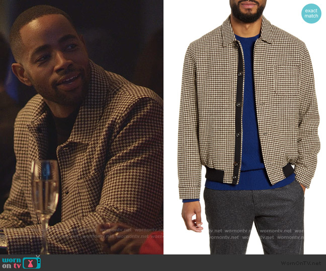 Foxham Slim Fit Wool Jacket by Oliver Spencer worn by Jay Ellis on Insecure