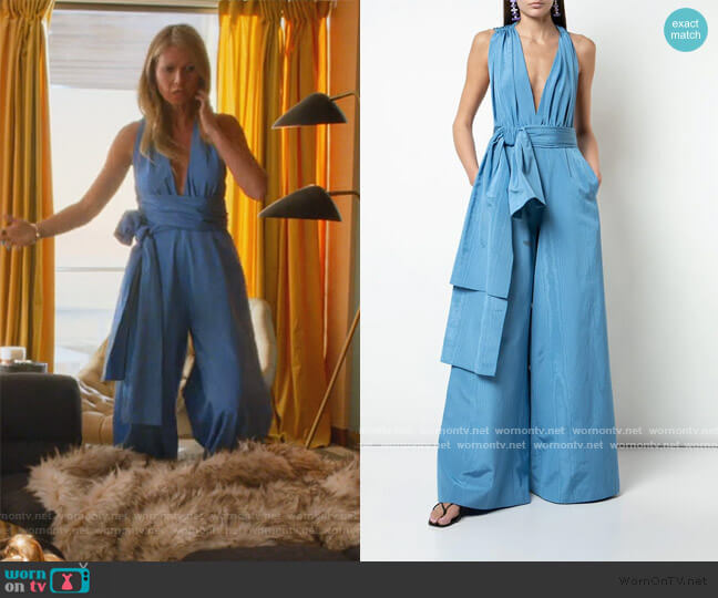 Tie Waist Jumpsuit by Oscar de la Renta worn by Georgina Hobart (Gwyneth Paltrow) on The Politician