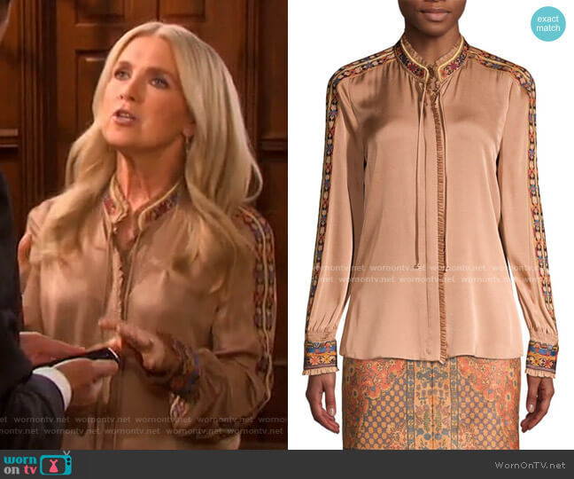 Owen Blouse by Kobi Halperin worn by Jennifer Horton (Melissa Reeves) on Days of our Lives