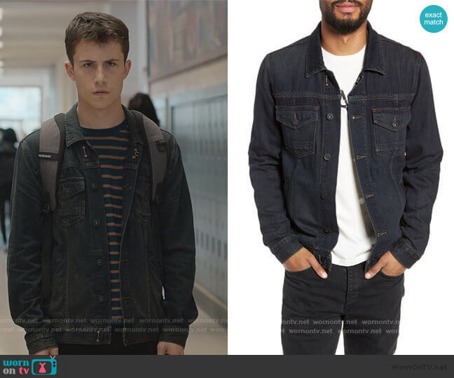 Scout Denim Jacket by Paige worn by Clay Jensen (Dylan Minnette) on 13 Reasons Why