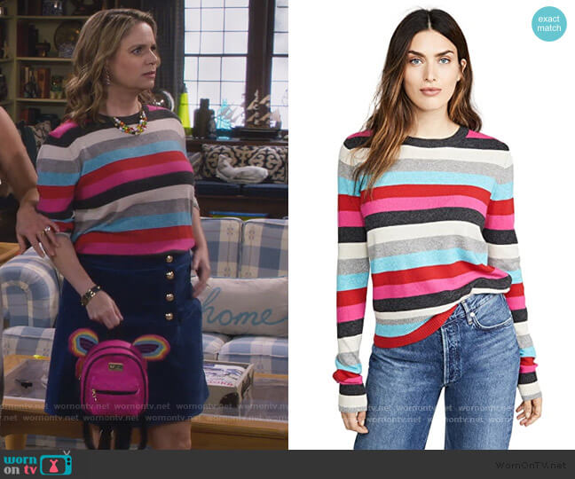 Striped Pullover by Pam & Gela worn by Kimmy Gibbler (Andrea Barber) on Fuller House