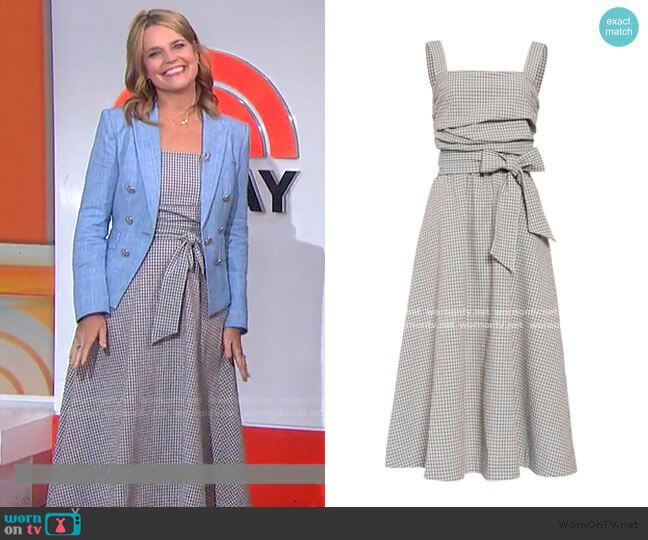 Positano Dress by Veronica Beard worn by Savannah Guthrie  on Today