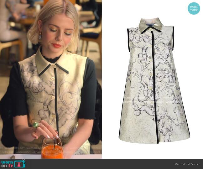 Rabbit Dress by Prada worn by Astrid (Lucy Boynton) on The Politician