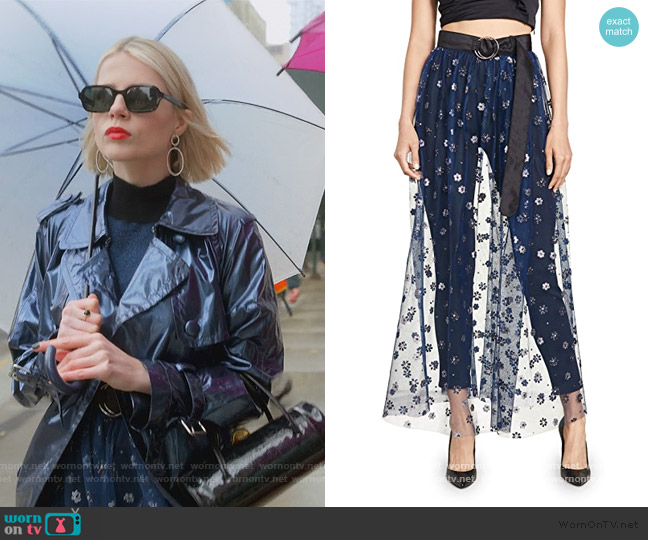 Fetes Belt Skirt by Rachel Comey worn by Astrid (Lucy Boynton) on The Politician