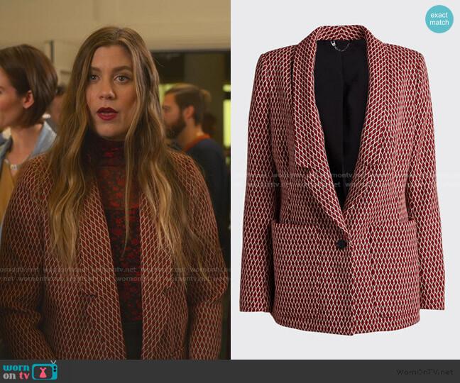 Loveless Blazer by Rachel Comey worn by McAfee (Laura Dreyfuss) on The Politician