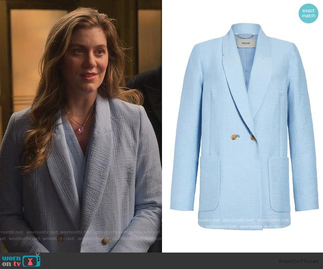 Amboy Foam Double-Breasted Blazer by Rachel Comey worn by McAfee (Laura Dreyfuss) on The Politician