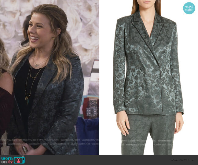 Jarvis Jacquard Blazer by Rag and Bone worn by Stephanie Tanner (Jodie Sweetin) on Fuller House